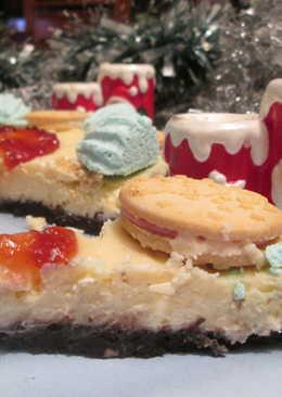 Postre navideño con queso y dulces