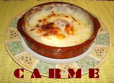 Huevos al plato con gambas y acelgas receta de penchi - Platos con jamon iberico ...