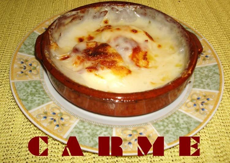 Huevos al plato con jam n ib rico receta de carme castillo - Platos con jamon iberico ...