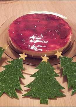 Tarta de queso de navidad