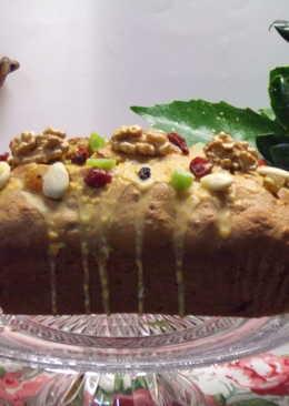 Plum-cake navideño con azucarado de naranja