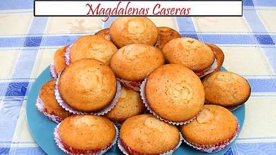 Magdalenas caseras esponjosas