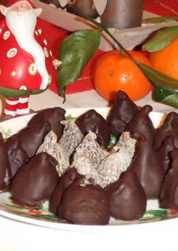 Bombones de higo rellenos con chocolate negro