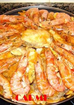 Zarzuela de pescado y marisco navideña