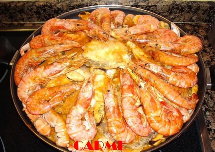 Zarzuela de pescado y marisco navide a receta de carme for Canelones de pescado y marisco