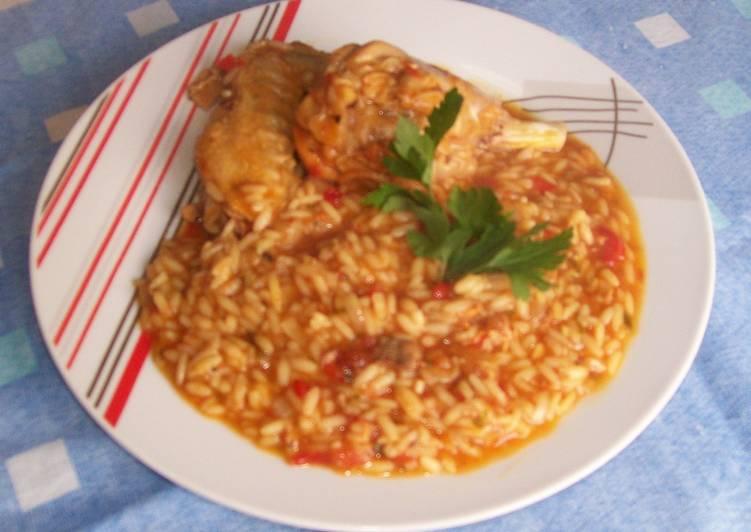 cazuela con arroz