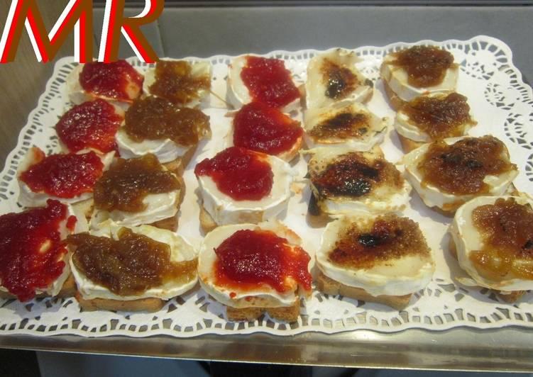 Canap s variados de queso de cabra receta de montse 2009 - Como hacer un canape ...