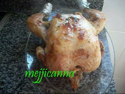 Pollo entero al horno con limón