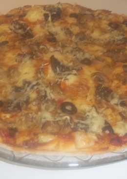 Pizza de setas y champiñones