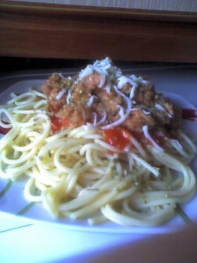 Spaguettis boloñesa vegetarianos