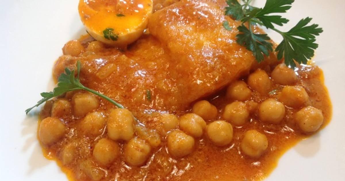 Bacalao con garbanzos y salsa romesco receta de - Bacalao con garbanzos y patatas ...