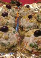 Montañitas de mayonesa de ave