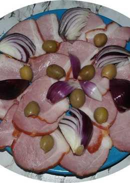 Entrante de jamón y cebolla (plato para los resfriados)
