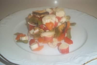 Salpicón de verduras y marisco