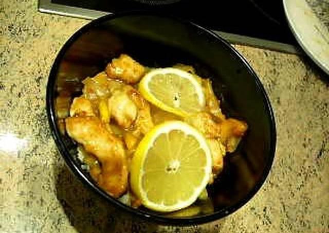 Pollo al limón con Wok