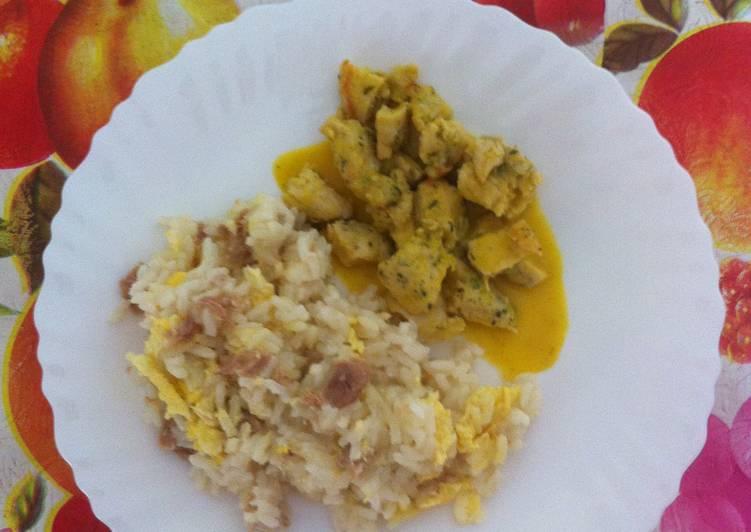 Pechuga de pollo a taquitos en salsa de naranja