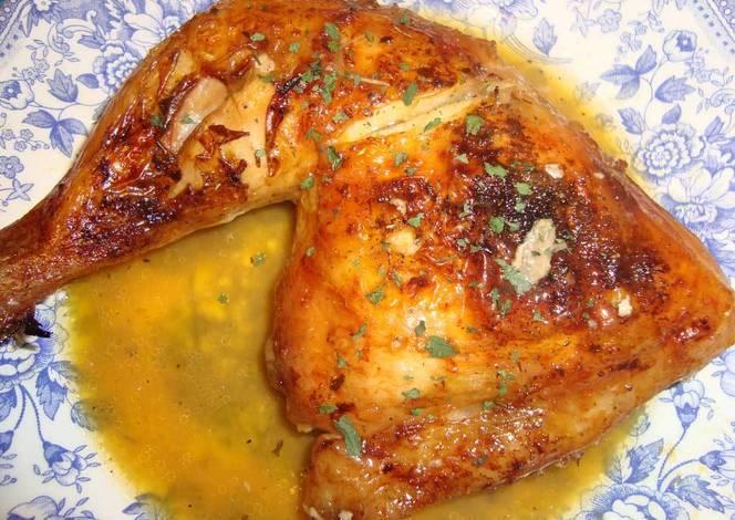 Pollo al horno con naranjas y cerveza receta de charic - Salsas para el pollo al horno ...