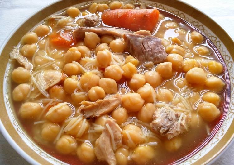 Cocido tradicional olla express receta de anabelbernal - Preparacion de garbanzos cocidos ...