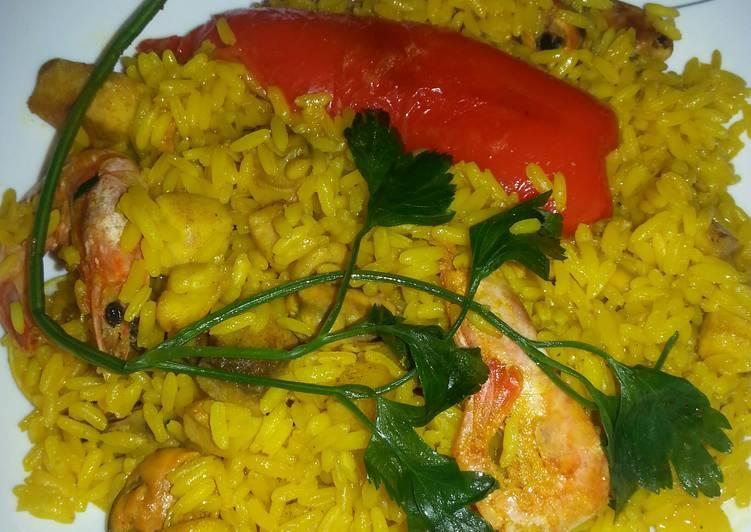 Paella de pescado receta de encar2222 cookpad - Paella de pescado ...