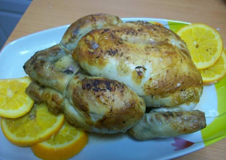 Pollo al horno a la naranja receta de rosa cookpad - Pavo ala naranja al horno ...