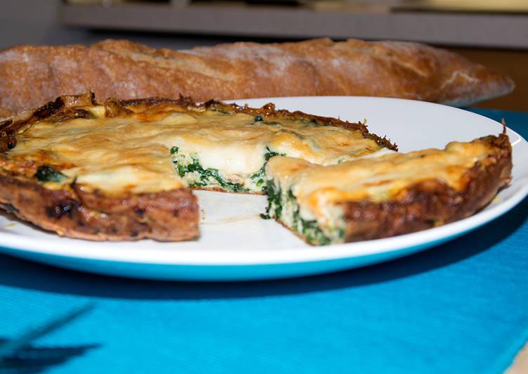 Omelette de espinacas y mozzarella