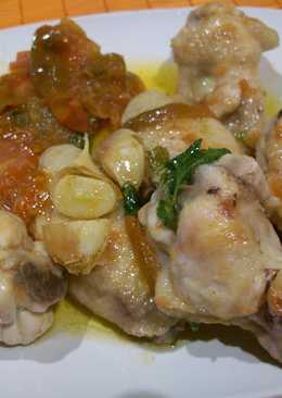 Pollo sofrito con tomates de Muchamiel