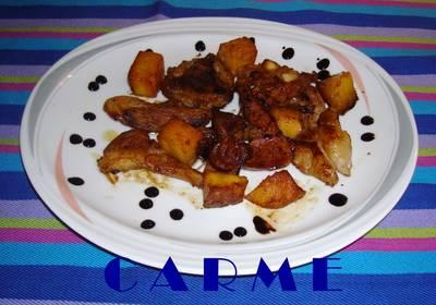 Chuletas de cordero con piña