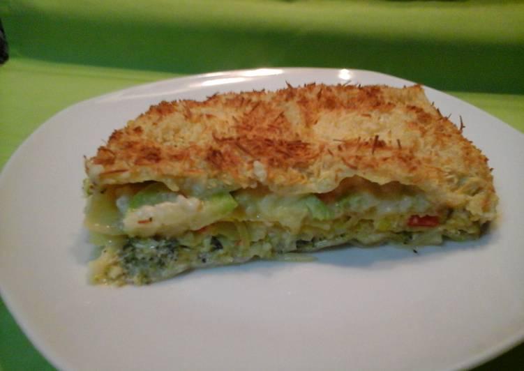 Lasa a de verduras receta de disfruta cocinando con - Bechamel con nata para cocinar ...