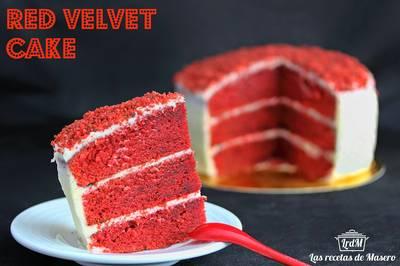 Tarta terciopelo rojo (red velvet cake)