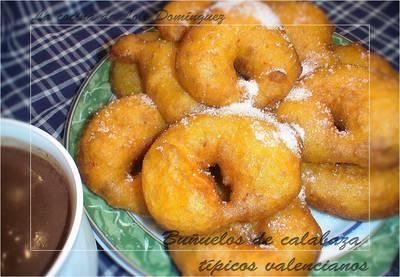 Buñuelos de calabaza típicos valencianos