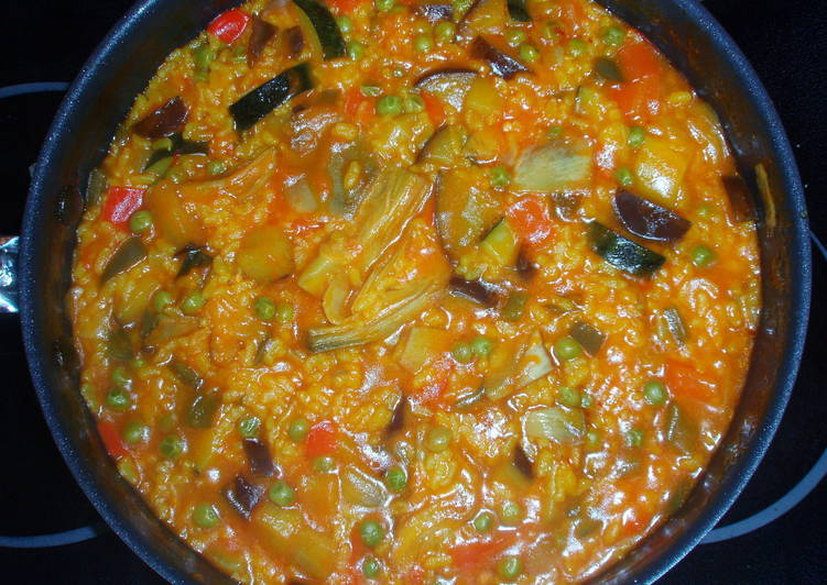 paella vegetariana receta de misrecetas cookpad