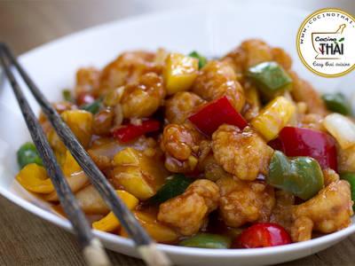 Pollo Agridulce (estilo chino)