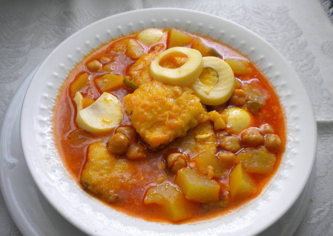 Potaje de garbanzo con bacalao de cuaresma receta de - Potaje garbanzos con bacalao ...