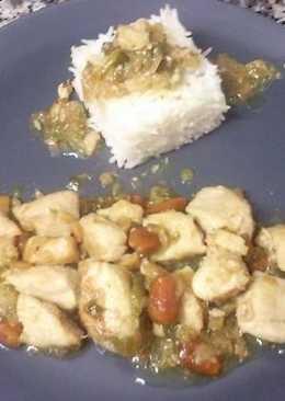Pollo con almendras