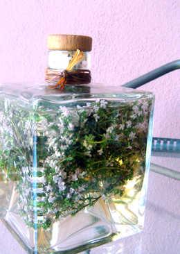 Vinagre balsámico de tomillo en flor