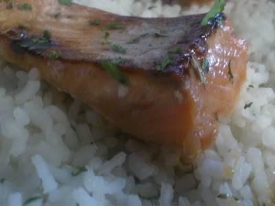 Salmon marinado en Soja y Miel