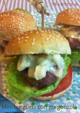Mini-burguers de ternera con gorgonzola