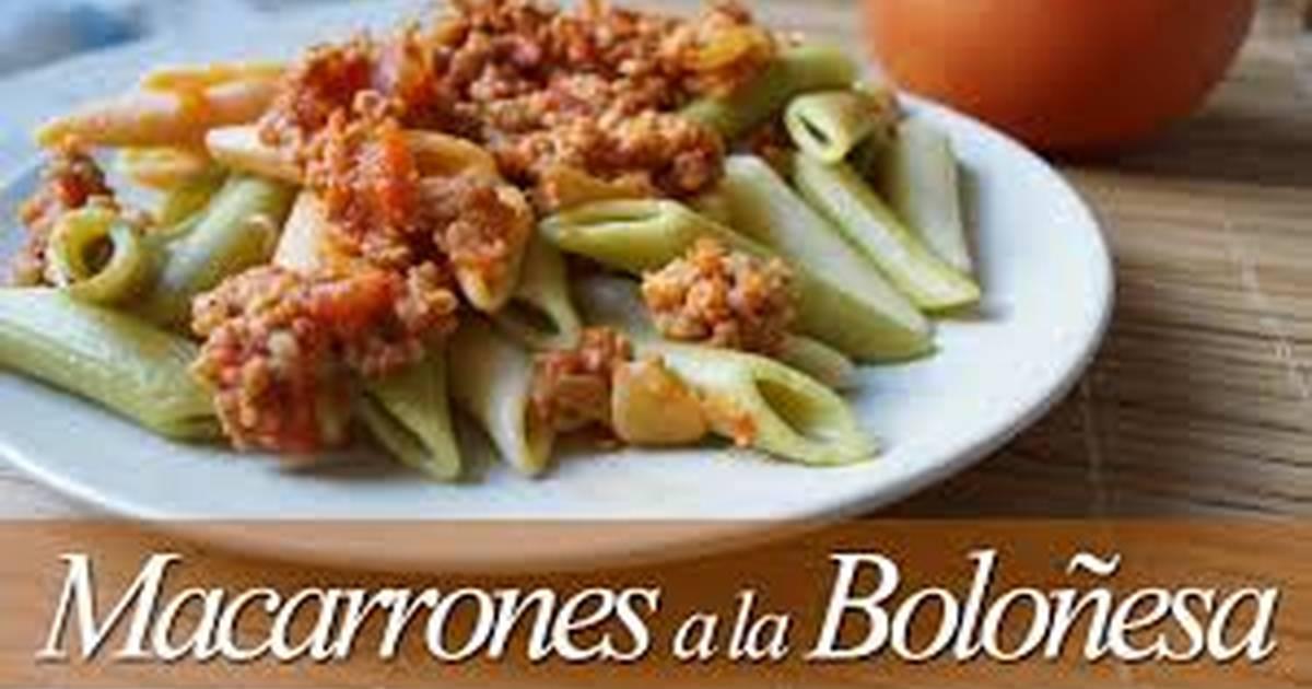 Macarrones a la boloñesa Receta de kikodinoblog
