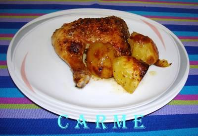 Pollo asado a la sidra (Carme)