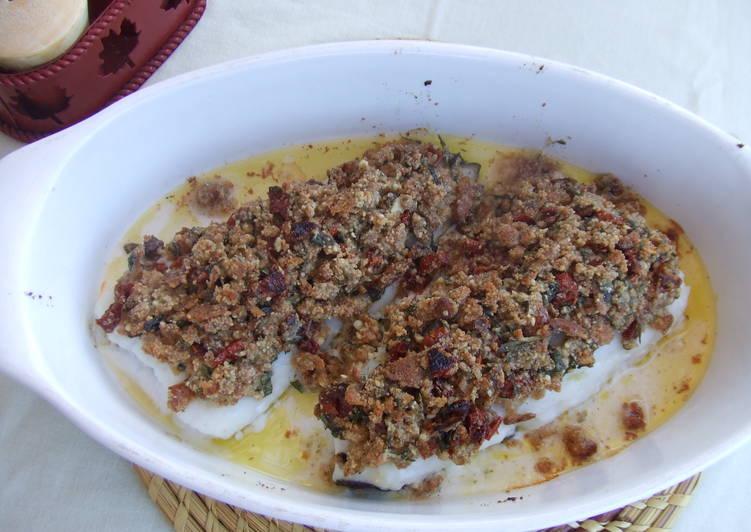 Bacalao fresco con tomates secados al sol al aroma de lima - Bacalao fresco con tomate ...
