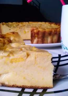 Tarta de melocotón (al horno)