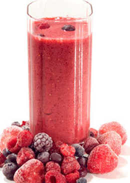 Smoothie de frutas del bosque