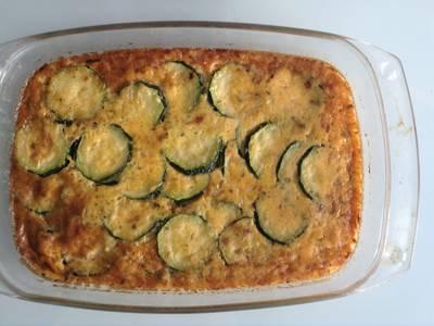 Pastel de calabacines y queso (Dieta Scardale)