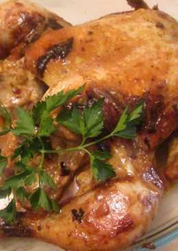 Pollo a la mostaza horneado