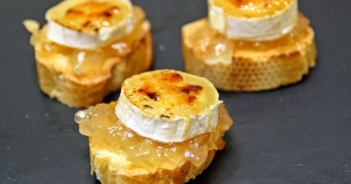 Canap de rulo de cabra caramelizado receta de las recetas for Canape queso de cabra
