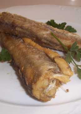 Bacalaos enteros y fritos
