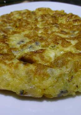 Tortilla de patata con champiñones