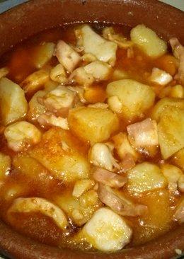 Cazuela de pulpo con patatas