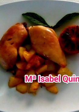 Pollo confitado en graisse de canard