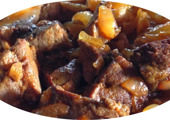 H gado de ternera encebollado receta de dominguez21 cookpad for Cocinar higado de ternera